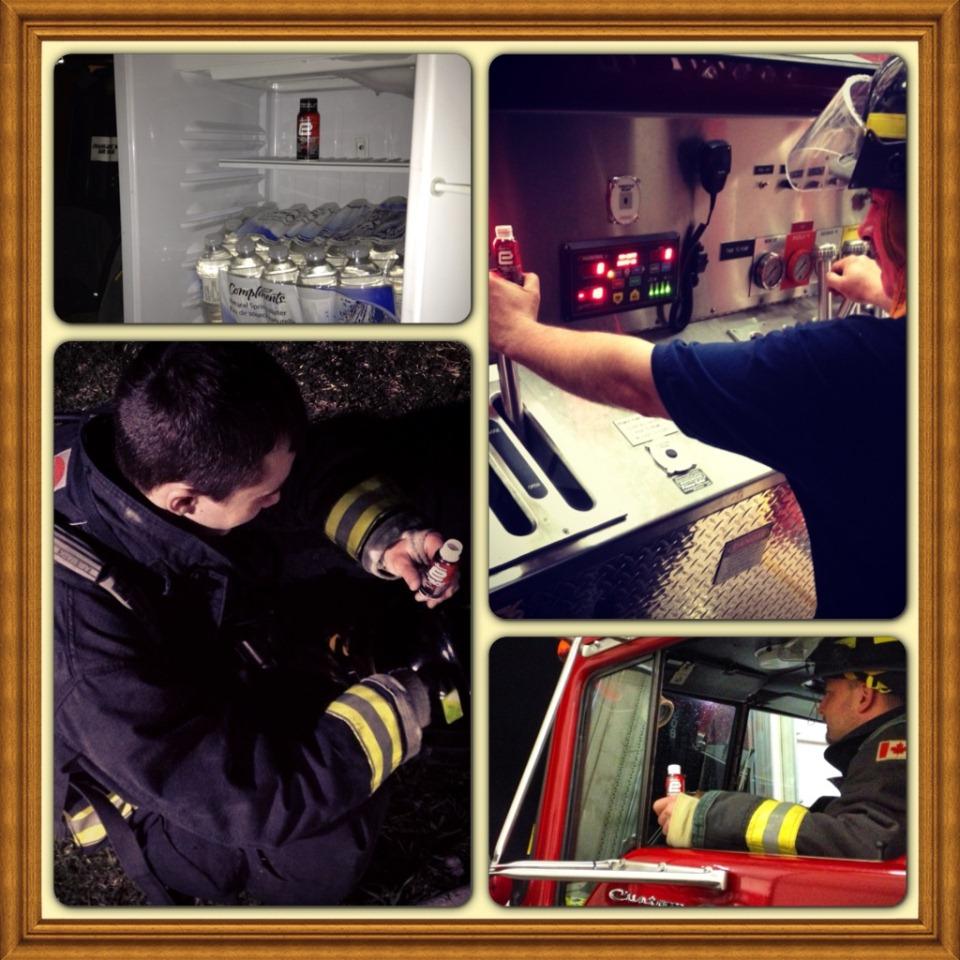 e+ energy shots for Firefighting