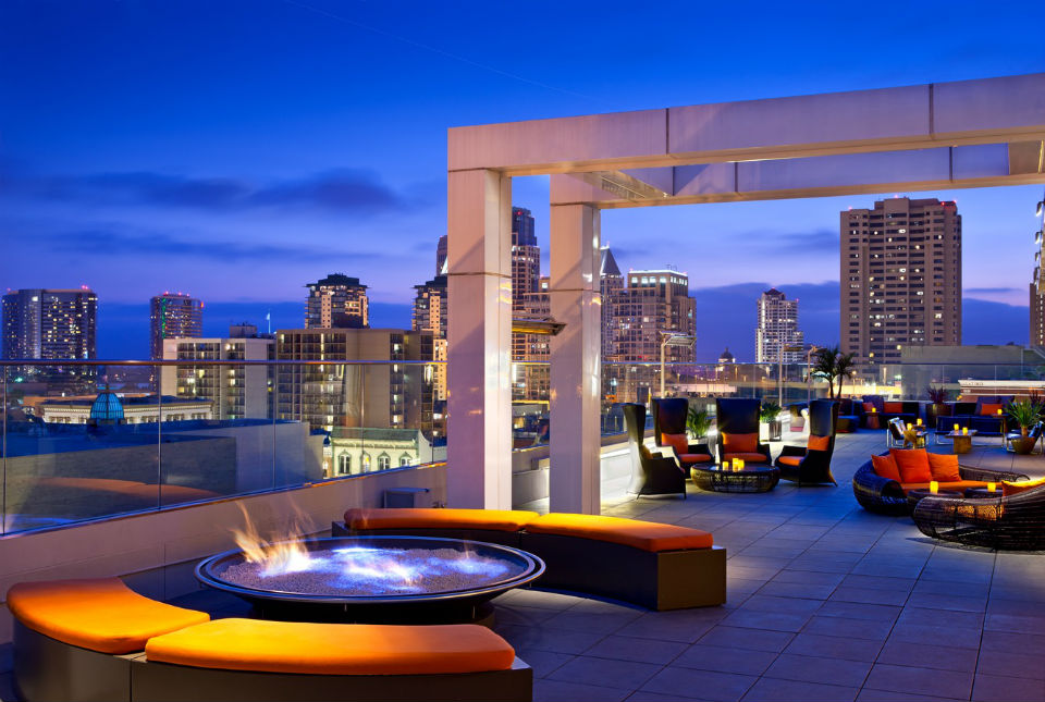 Andaz Rooftop Firepit West - 2014 Celebration START party