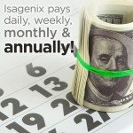 Isagenix Pays Daily, Weekly, Monthly and Annually!