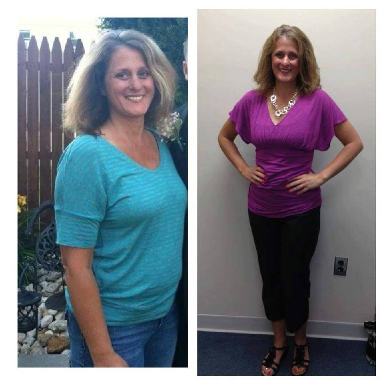 Dawns before and after photos using Isagenix 30 day system