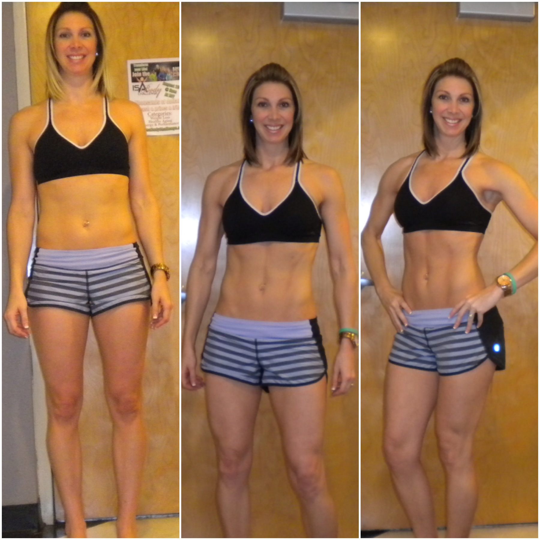 before and after photos of Charity who used Isagenix Cleansing System