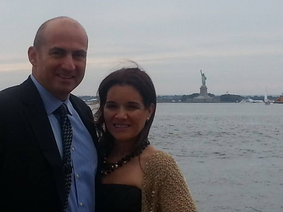 Nicole and I in front of the statue of liberty