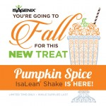 Limited-Time-Only IsaLean Shake Pumpkin Spice is Available Today!