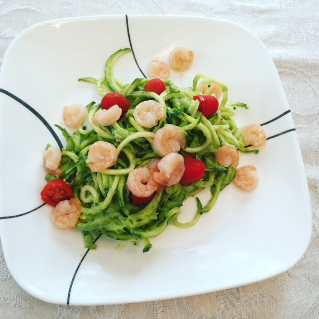 Zoodles and Shrimp--Nicole Stroup