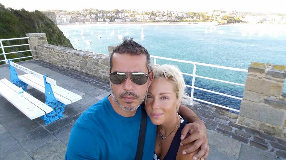 Rita & husband ocean