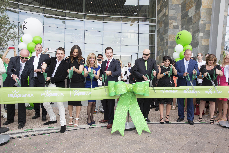 Isagenix celebrates th anniversary with ribbon cutting