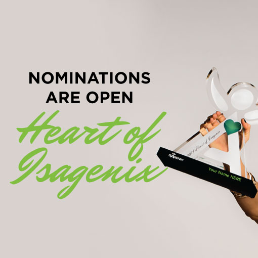 Heart of Isagenix Nominations are Open