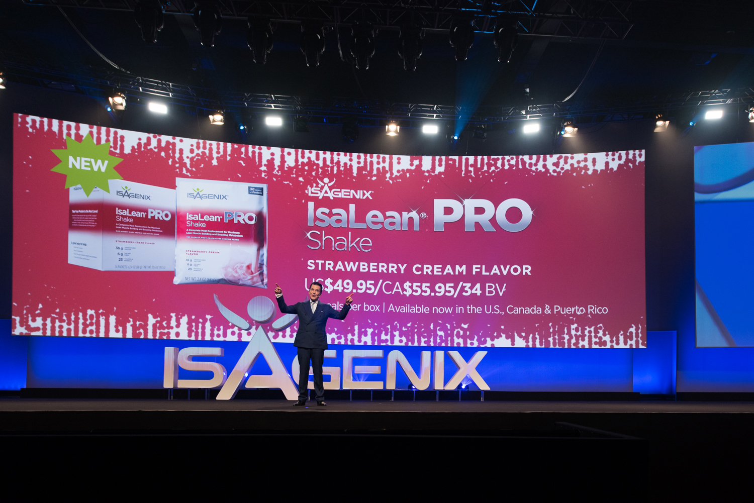 Jim Coover, Co-Founder and Chief Executive Officer, Launches New IsaLean PRO Creamy Strawberry Flavor from Stage at NYKO 2017