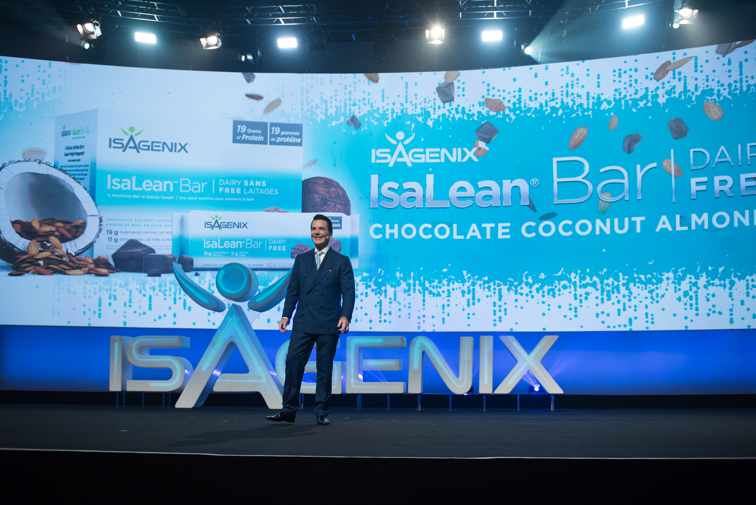 Jim Coover, Co-Founder and Chief Executive Officer, Launches New Whey Thins White Cheddar Flavor from Stage at NYKO 2017