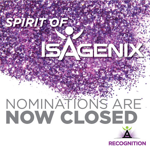 Spirit of Isagenix Nominations Now Closed