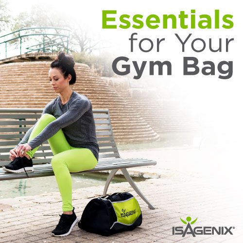 Isagenix products for your gym bag