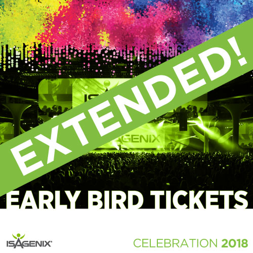 Tickets for Celebration 2018 are only US $149 Through Oct. 9