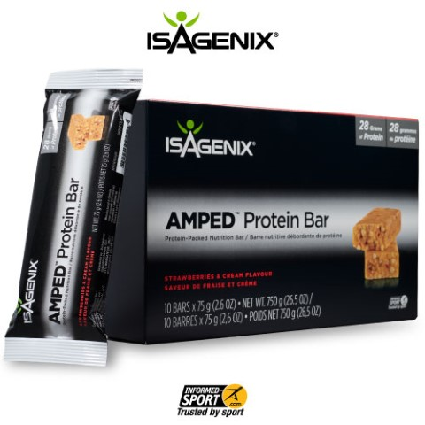 Strawberries & Cream AMPED Protein Bar