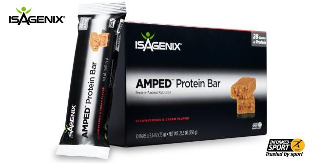 AMPED Strawberries & Cream Protein Bar