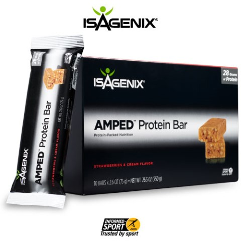AMPED Strawberries & Cream Protein Bar