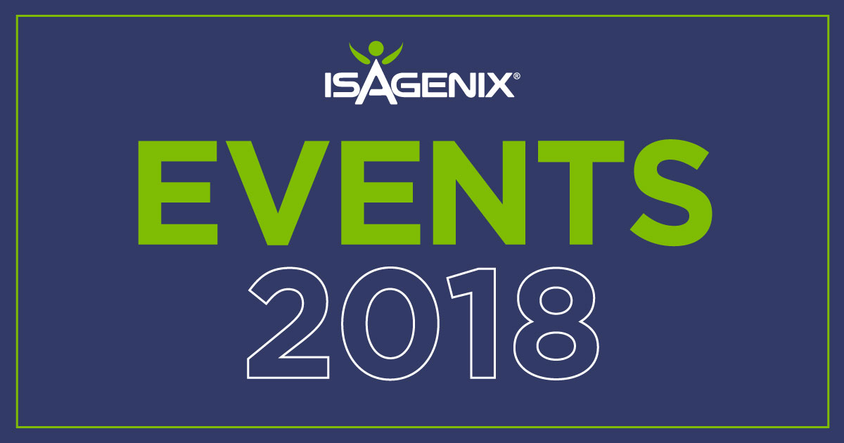 Events for Isagenix 2018