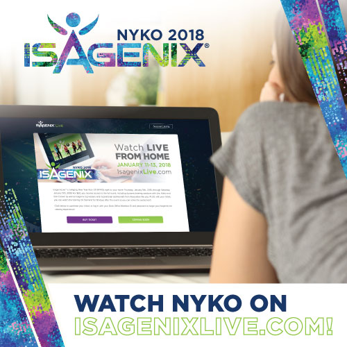 Cant Make It To Nyko 2018 Tune In From Home Isagenix News