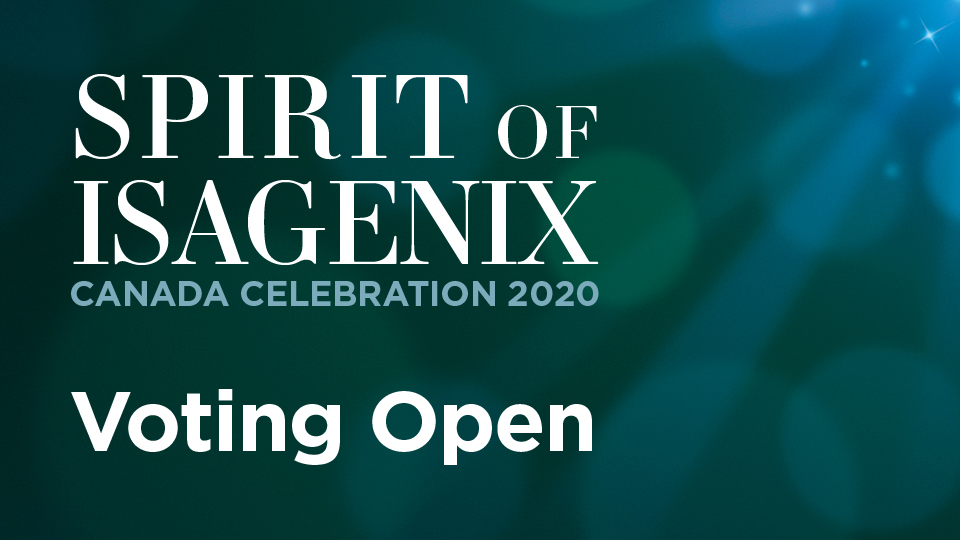 Spirit of Isagenix voting open