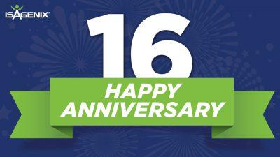 Celebrating 16 years of Isgaenix