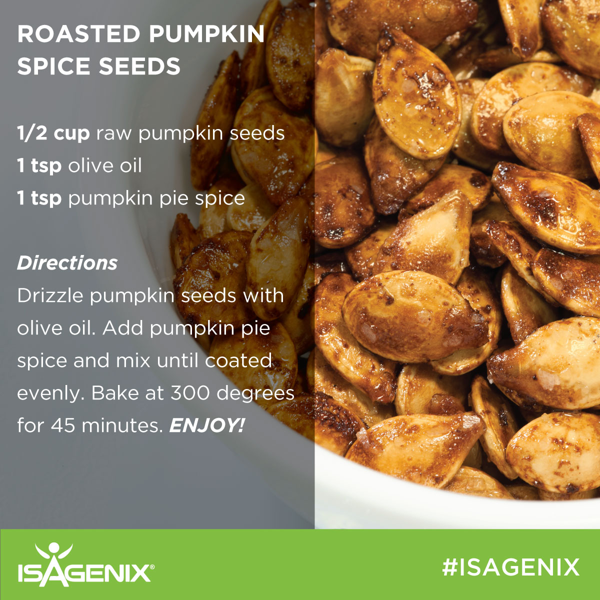 Switch it up with these tasty recipes under 600 calories recipe with roasted pumpkin seeds forumfinder Gallery