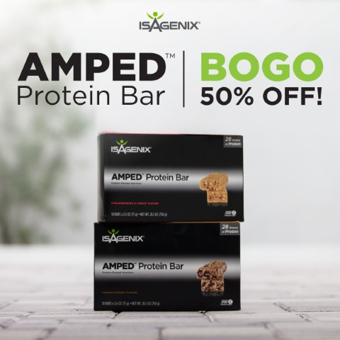 Amp up your workout get 50 off bars isagenix product hub amped bogo fandeluxe Choice Image