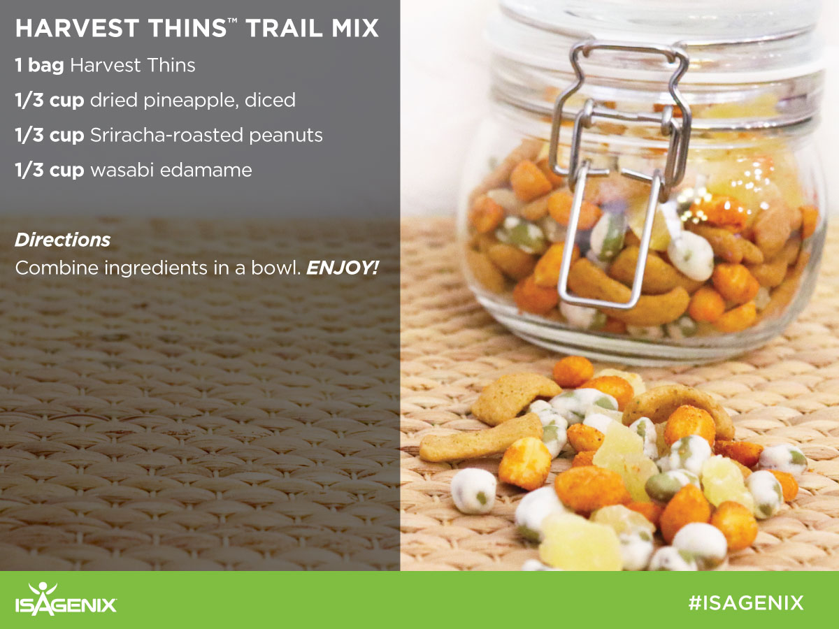 Isagenix Harvest Thins with Trail Mix