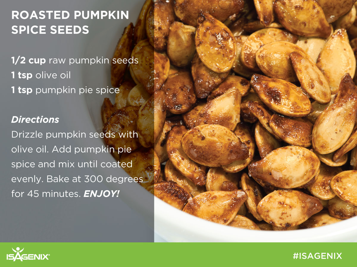 Pumpkin Seeds roasted with olive oil and pumpkin spice