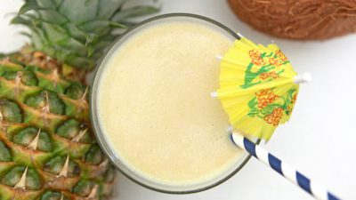healthy pina colada shake to help you slim down for summer