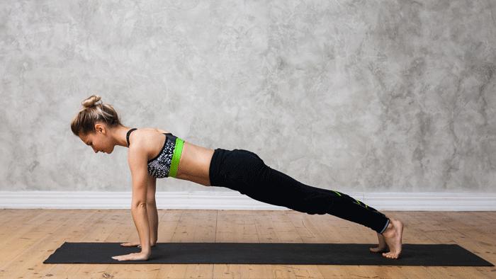 A Core Building Plank Posture