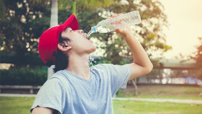 Stay hydrated to stay energized.