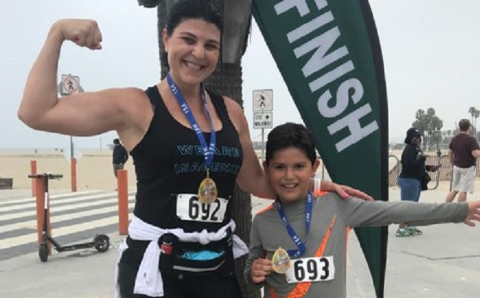 Christine Runs a 15K Race with Her Son