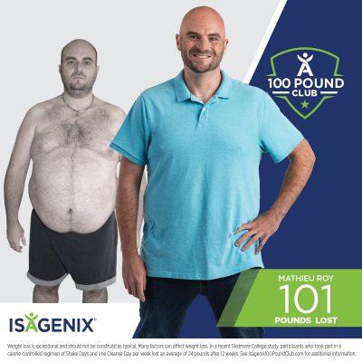 Mathieu Lost 100 Pounds!