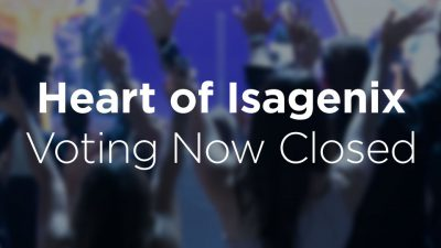 2019 Heart of Isagenix Voting Closed