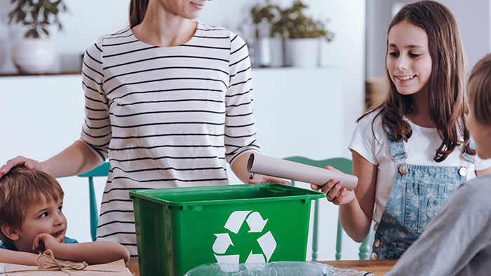 Recycling is easy and the whole family can take part