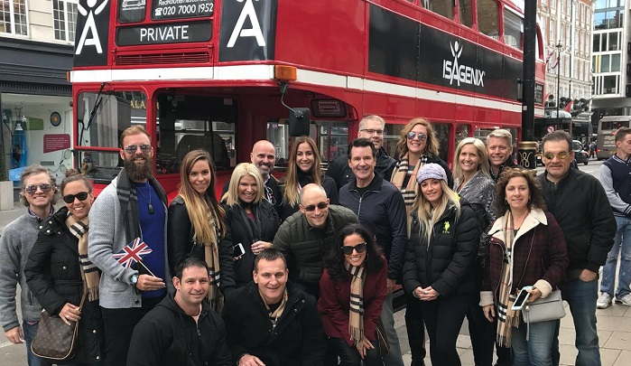 An Isagenix group visits the U.K.