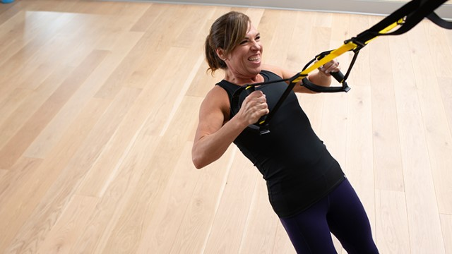 Woman doing a resistance training exercise