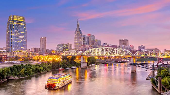 A landscape image of Nashville, Tennessee.