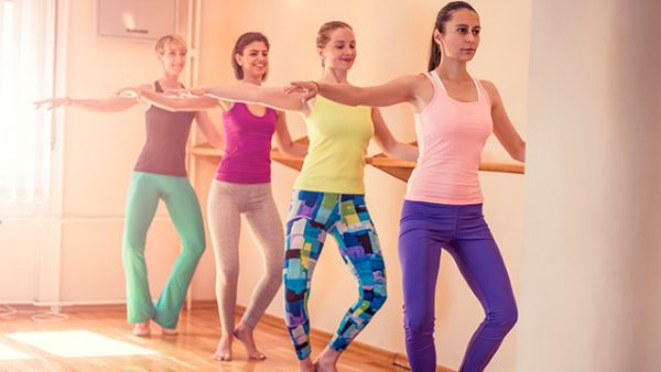 Women doing a Barre workout