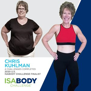 Before and after photos of Chris Kuhlman, 2020 U.S. IsaBody Challenge Finalist