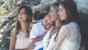 Christie Nix poses with her three kids
