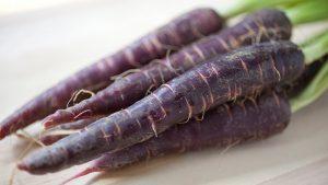 organic purple carrots
