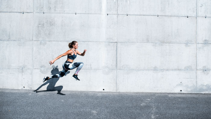 woman, sprinting, running, working out
