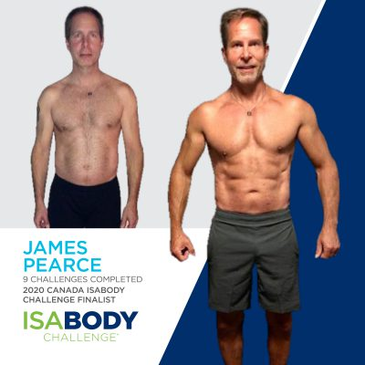 James Pearce before and progress