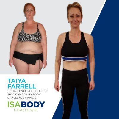 Taiya Farrell before and progress photo