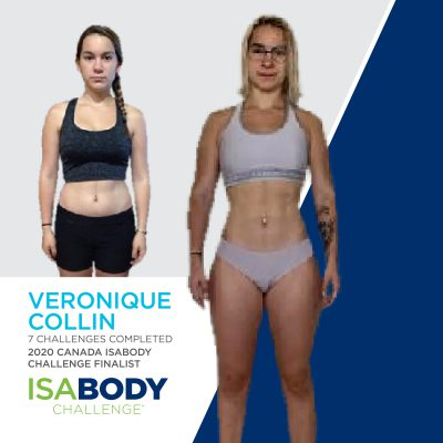 Véronique Collin before and progress