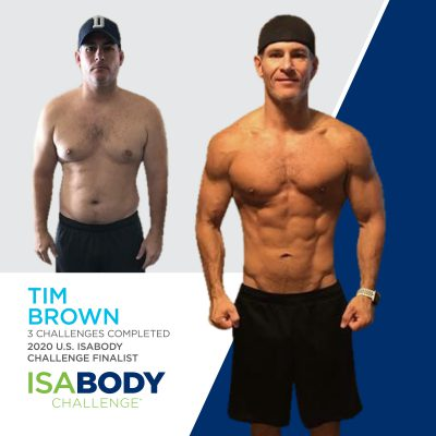 Tim Brown before and progress photos