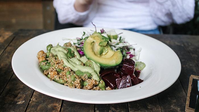 healthy quinoa dish