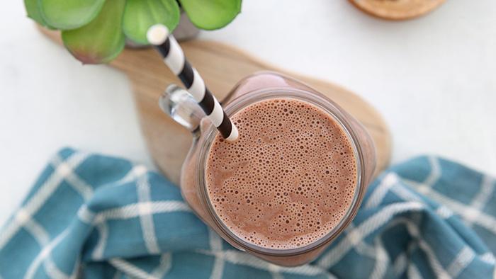 Creamy Dutch Chocolate IsaLean® Shake in a glass
