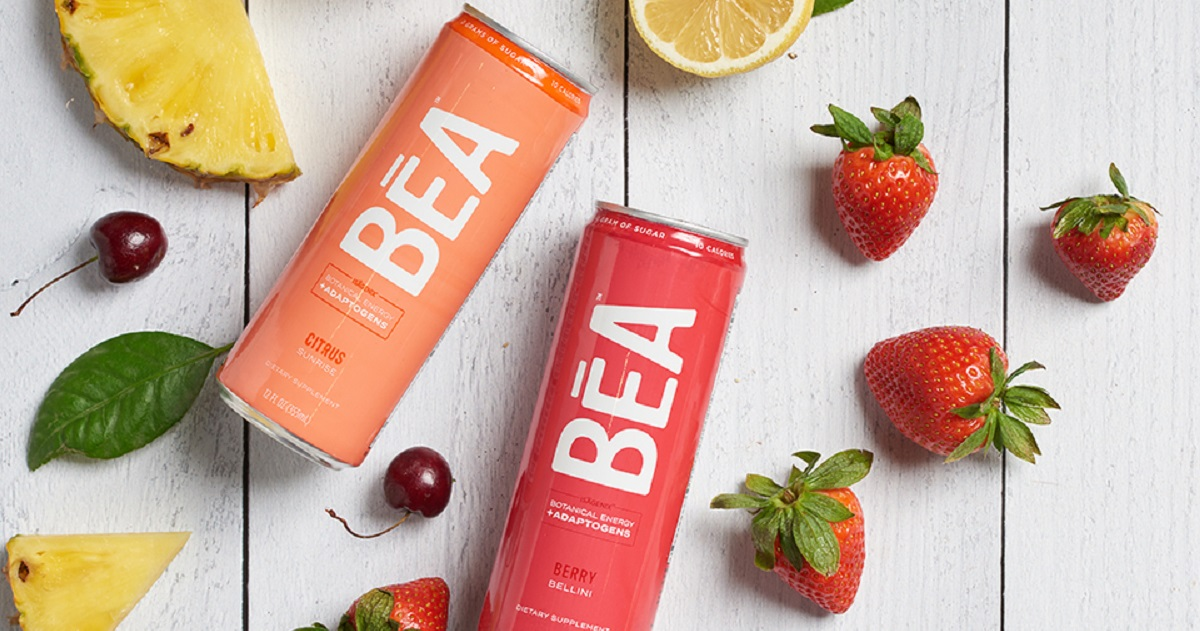2 cans of Citrus Sunrise and Berry Bellini BEA Sparkling Energy Drink