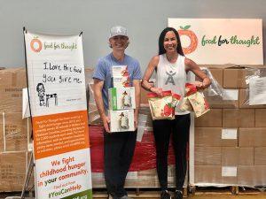 Associates donating food